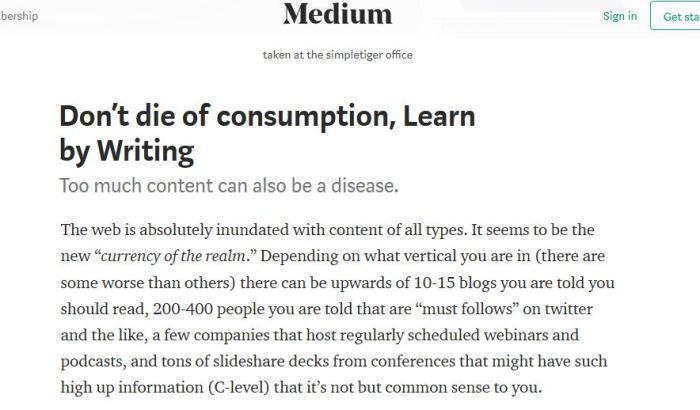 stop consumption